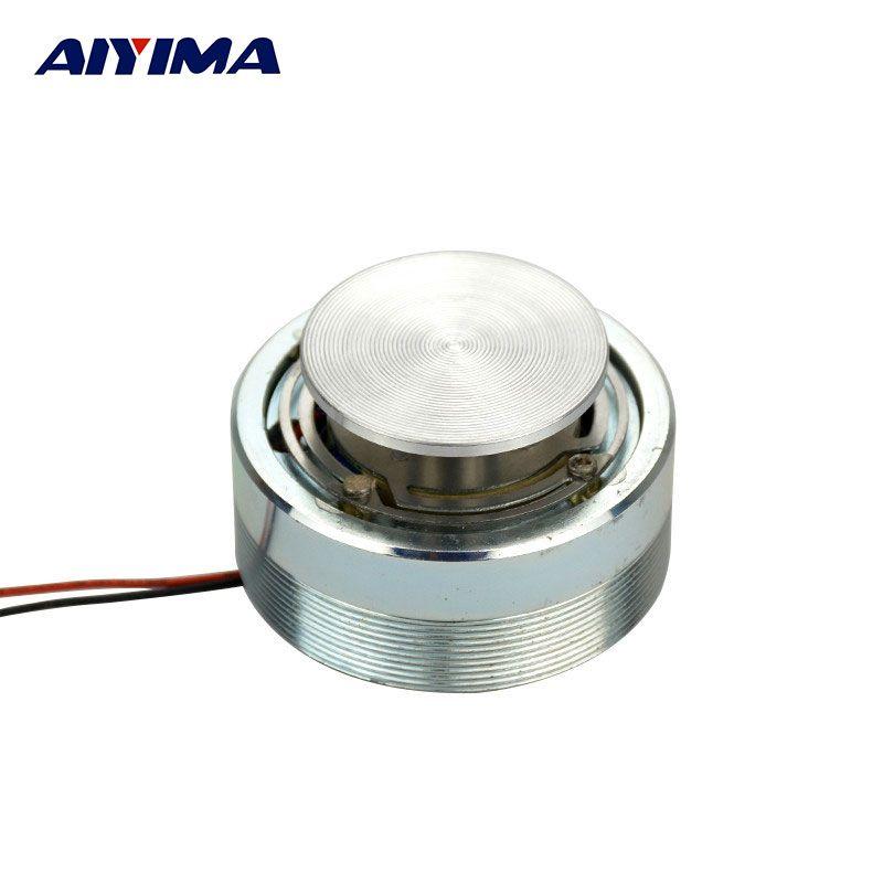 AIYIMA 1Pc 2Inch 50MM Mini Audio Portable Speakers 4 Ohm 25W Resonance Vibration Bass Louderspeaker Full Range Horn Speaker
