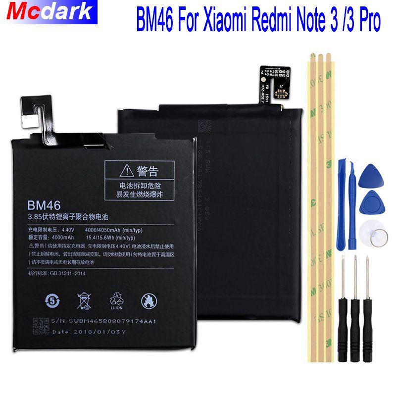 4000 mah 4050 mah BM46 Batterie Pour Xiao mi Rouge mi Note 3 mi note3 Pro/Premier Bateria Accumulateur + outils