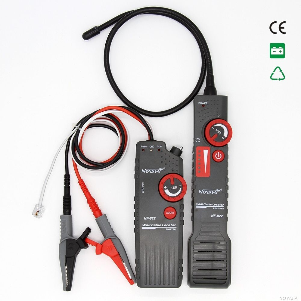 Noyafa nf-822 underground cable locator 0-0.3m depth cable length tester 1000m for High voltage wire detecting