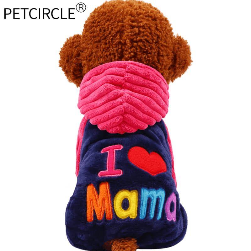 2017 Petcircle Mode Ich liebe papa und mama winter Hund Kleidung Für Pet Kleine Große Hund Mäntel Jacken für chihuahua