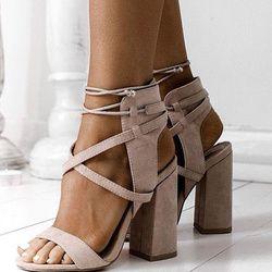 Femmes Sandales D'été Sexy Talons hauts Sandales Pour Femmes Chaussures 10 cm Talons Sandales Gladiateur 34-43 Opéenne Bout femmes Chaussures D'été