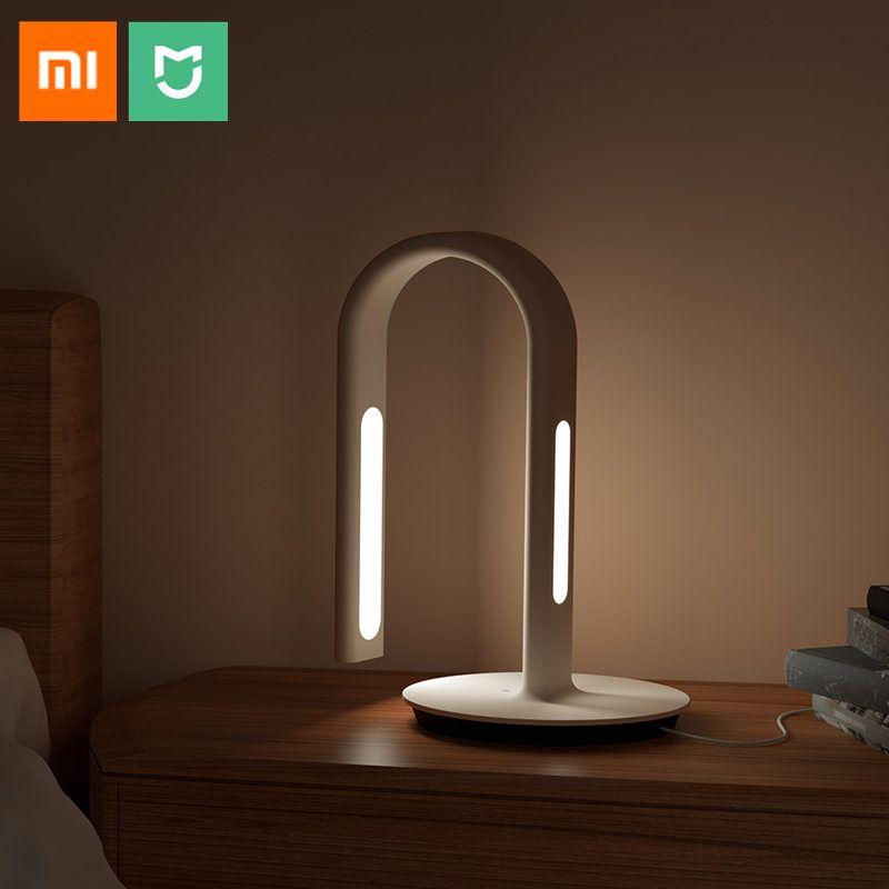 Original Xiaomi Mijia Smart lampe de bureau lumière LED Philips2nd lampe de Table pliante double lumière tactile capteur Smart Home APP contrôle