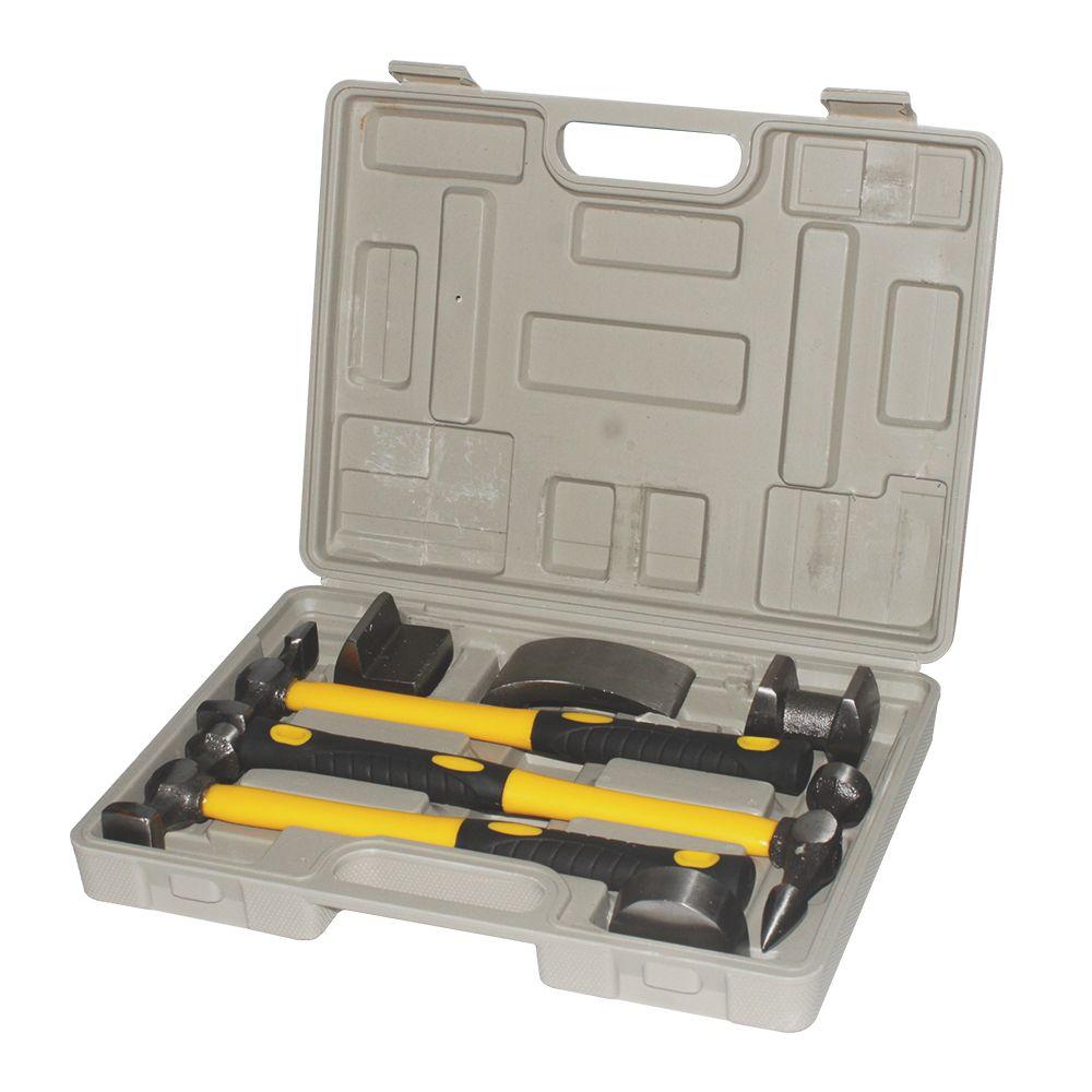 7 pieces auto body & fender repair kit, car body repair tool kit, sheet metal set