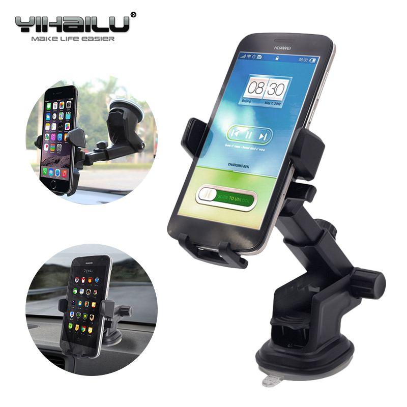 Support voiture de Téléphone Universel Collant GPS Soutien Aspiration 360 Rotation Réglable 3.5-6 pouce Support Pour iPhone Samsung Houder titulaire