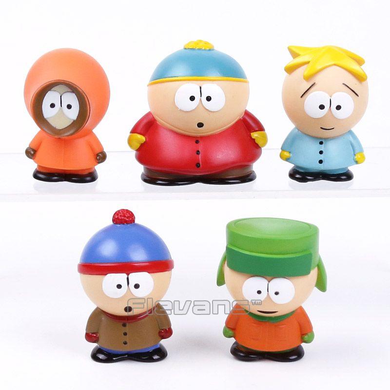 South Park Stan Kyle Eric Kenny Leopard Mini 6cm PVC Figures Classic Toys Kids Gifts 5pcs/set
