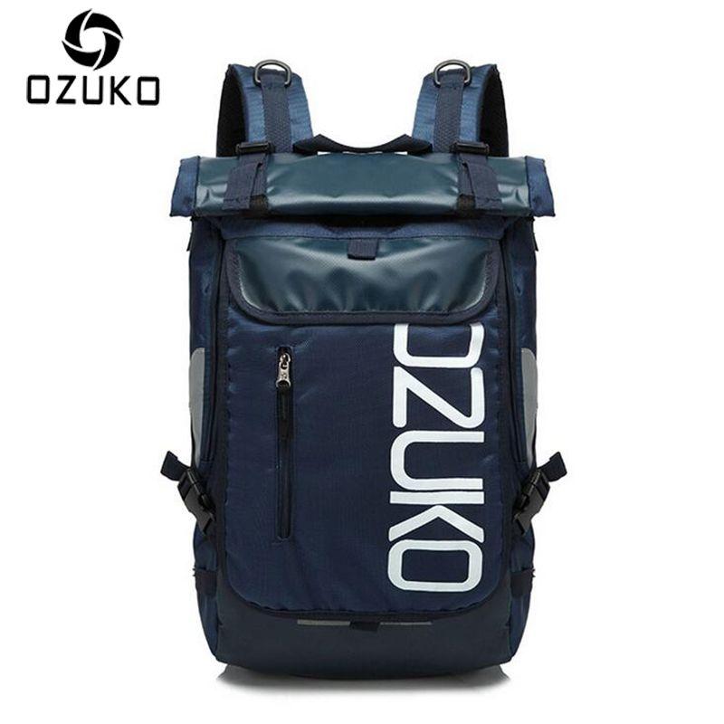 OZUKO Brand Men Travel Backpack 2017 New Sryle Casual School Bag for Teenagers 14-15 inch Laptop masculina Shoulder Bags Mochila