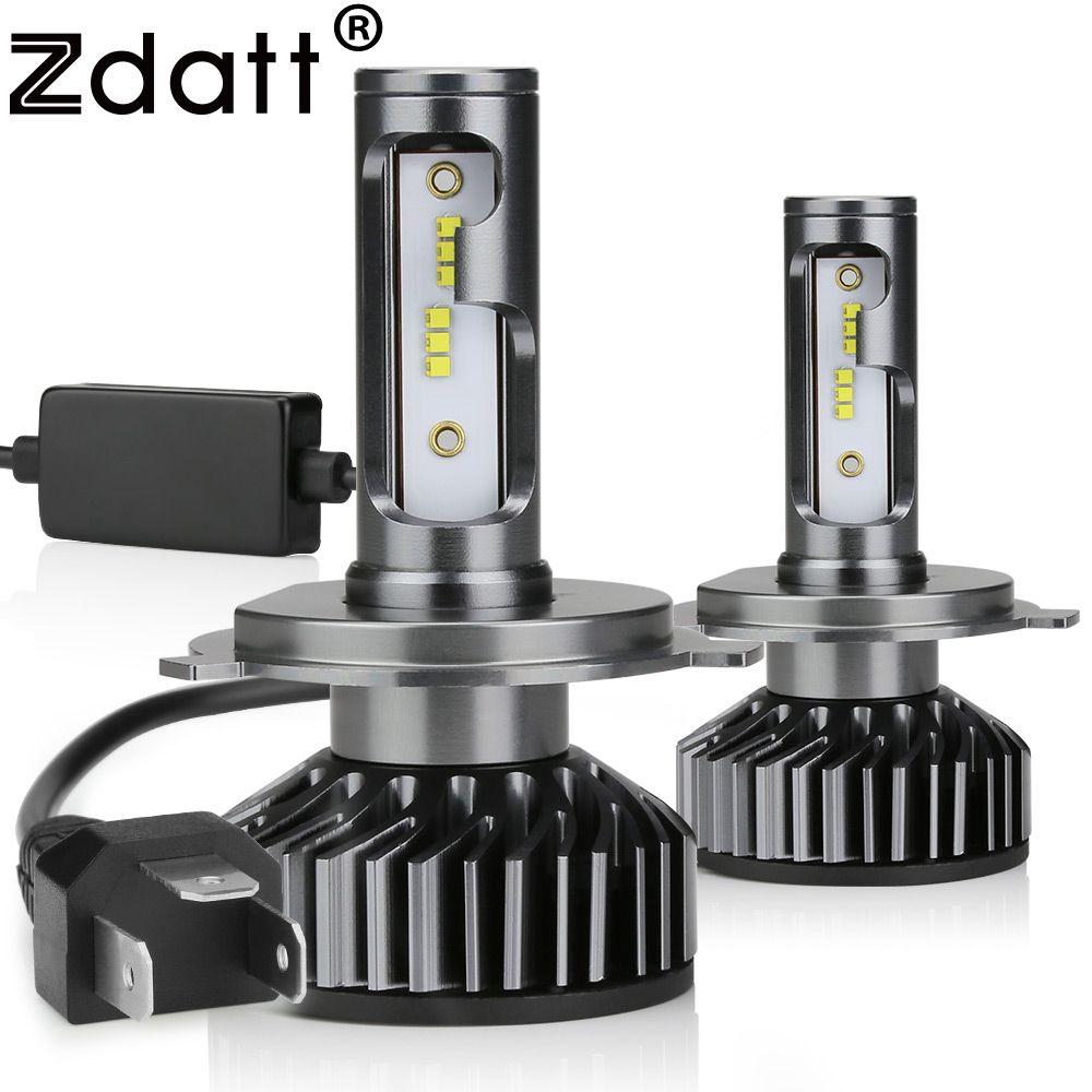 Zdatt H7 LED H4 H11 H8 H1 HB3 9005 9006 H9 HB3 Canbus Phare Ampoule Voiture Lumière 12000LM 100W 6000K 12V Auto Lampe Aucun Bruit Radioélectrique