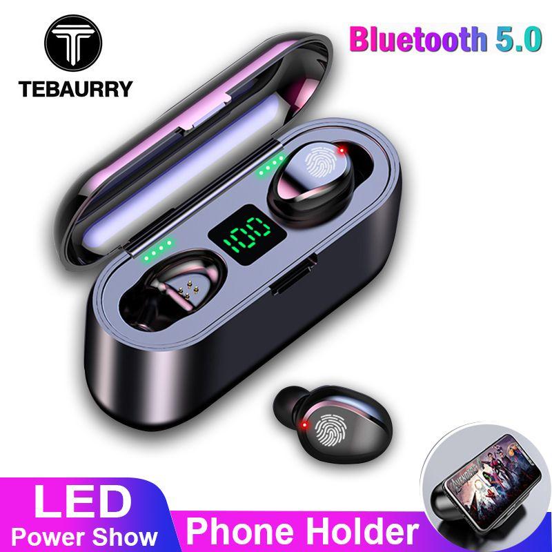 TWS V5.0 Bluetooth écouteur 8D stéréo sans fil casque Sport sans fil écouteurs avec LED 2000 mAh charge Bin support pour téléphone