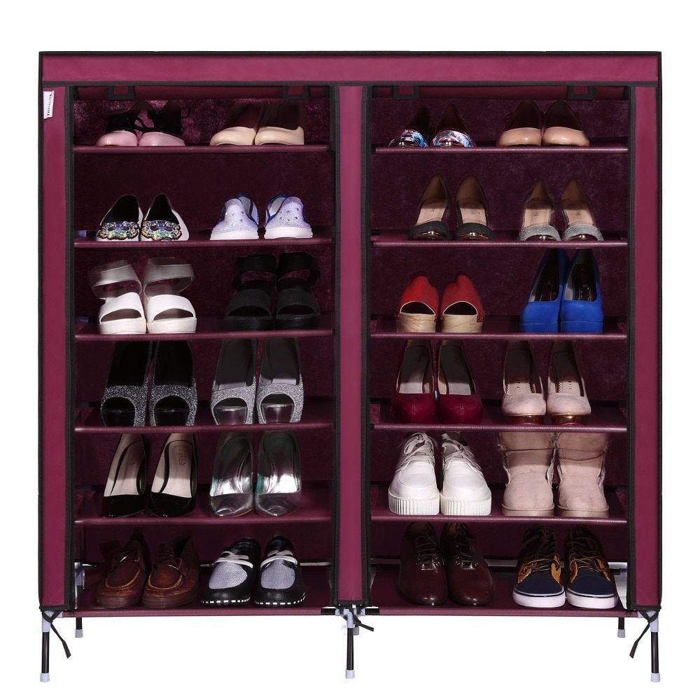 Homdox 6 Layer 12 Grid Portable Home Shoe Rack Shelf Shoe Storage Closet Furniture Organizer Cabinet N20*