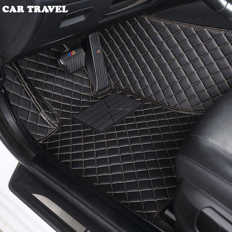 Custom car floor mats for Ford escort fiesta mondeo Focus Fiesta Edge Explorer Taurus S-MAX F150 Everest mustang car accessories