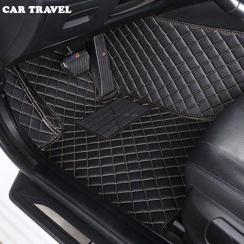 Custom car floor mats for Ford escort fiesta mondeo Focus Fiesta Edge Explorer Taurus S-MAX F150 Everest mustang car accessories