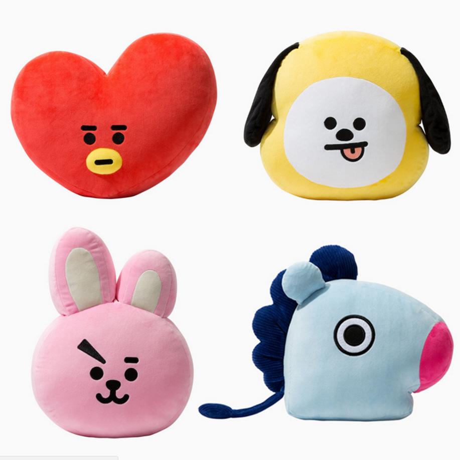 Cute Cartoon BTS BT21 Plush Doll Toy Bangtan Boys Throw <font><b>Pillow</b></font> Cushion Boys Throw <font><b>Pillow</b></font> Perfect for Sofa Home Decor,11.8''x15.7