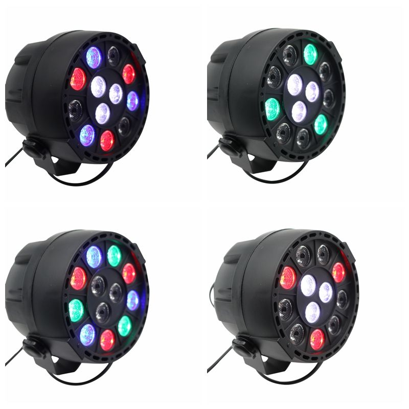 High Quality Disco Light 12x3W Led Par RGBW DMX LED Party Lights Stage Lighting Effect STROBOSCOPE BEAM LASER Christmas