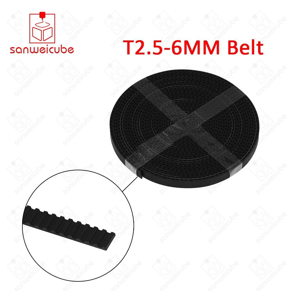 2 meter T2.5 zahnriemen pitch 2,5mm breite 6mm Neopren Gummi timing pulley für CNC T 2,5 6 2000 open ended freies verschiffen 2 mt