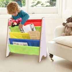 4 Tiers Wood Shoes Rack Shelves Holder Storage Home OrganizerMulti-color Pocket Bookshelf Children Furniture Bookcase