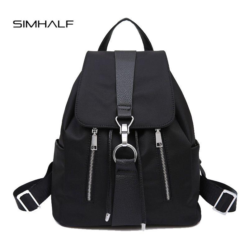 Simhalf новый бренд 2017 Для женщин рюкзак Водонепроницаемый нейлон леди Для женщин Рюкзаки женский Повседневное Дорожные сумки Mochila Escolar feminina