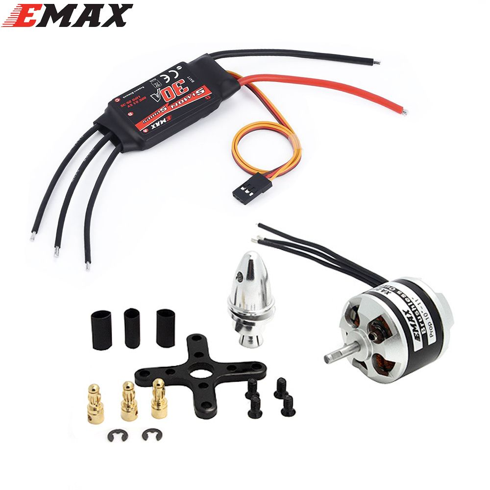 Original EMAX XA2212 820KV 980KV 1400KV Motor With Simonk 30A ESC Set For RC Model for F450 F550 RC Quadcopter