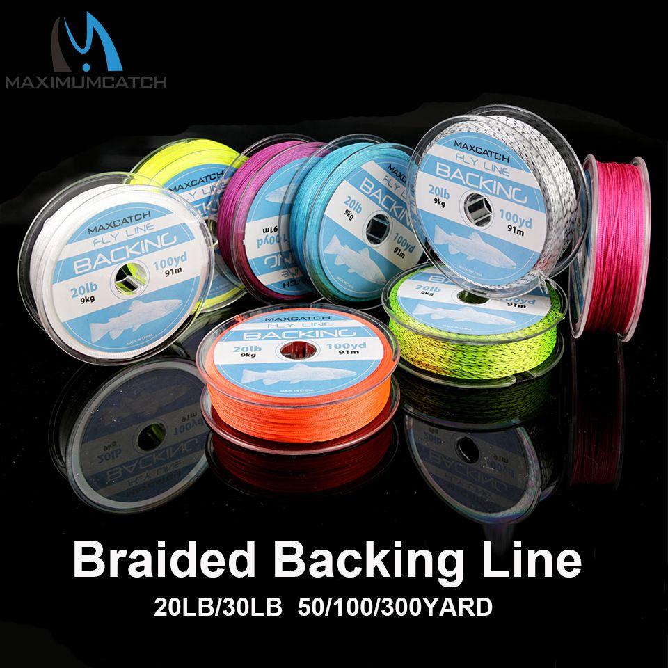 Ligne de pêche à la mouche avec support Maximumcatch 20/30LB 50/100/300 Yards ligne de soutien ligne de mouche tressée multicolore