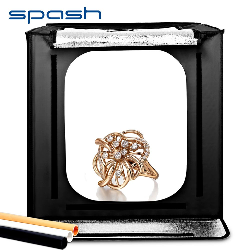 spash F60 Folding Photo Box Studio Light Box Portable Softbox 60*60*60cm 5500K CRI95 Lightbox Photography Studio Shooting Tent