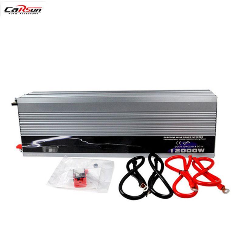 Reine Sinuswelle Auto Wechselrichter 12 V/24 V/48 V Zu 110 V/220 V 12KW/12000 Watt Für Auto/Home/Solar/Boot