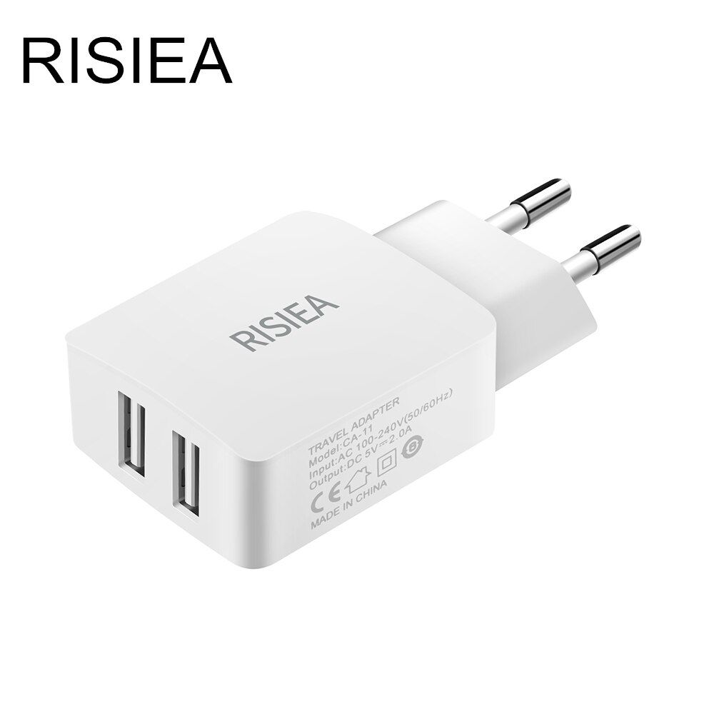 5V 2A USB charger RISIEA Travel Wall Charger Adapter EU Plug Smart Mobile Phone for iphone xiaomi huawei Samsung Galaxy S8 S7