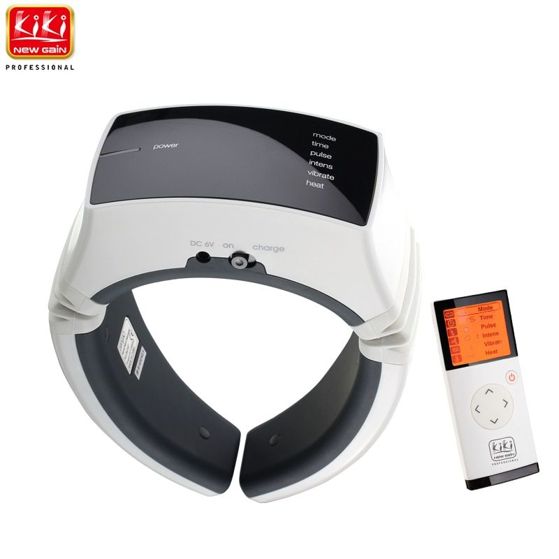 KIKI newgain.Wireless Remote <font><b>Control</b></font> Electric pulse Neck massager health care product Cervical therapy instrument massage tools
