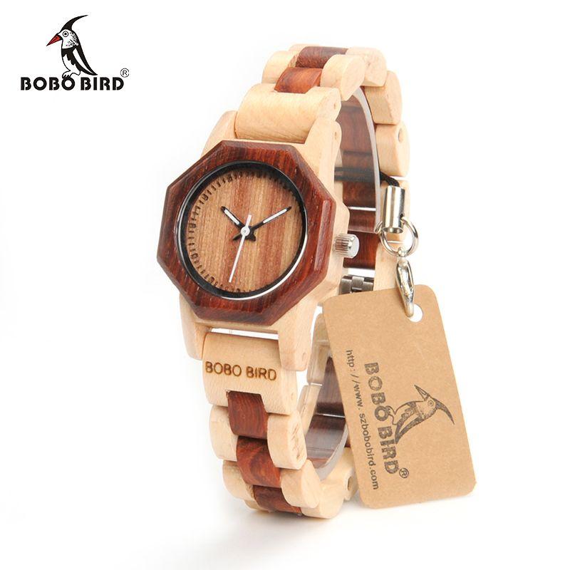 BOBO BIRD M25 Women Wooden Watch Luxury Quartz Movement Lightweight Ladies Wristwatch Relojes de mujer With Gift Box