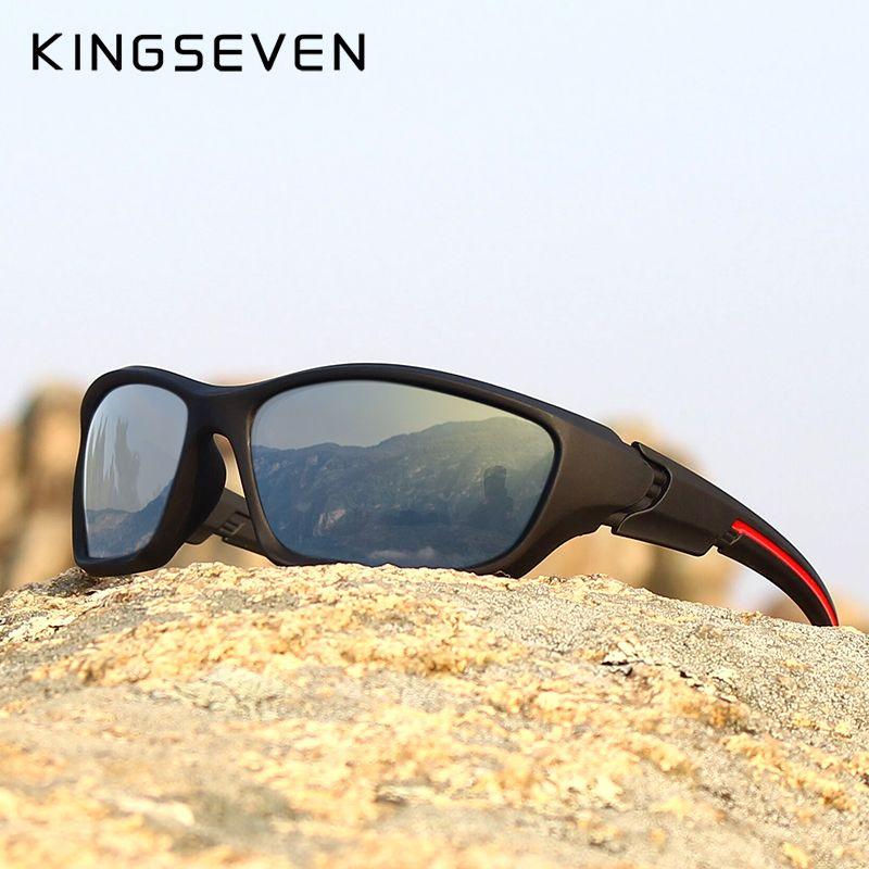 KINGSEVEN marque 2019 hommes lunettes de soleil polarisées TR90 cadre Vision nocturne miroir lunettes de soleil hommes lunettes de soleil lunette de soleil