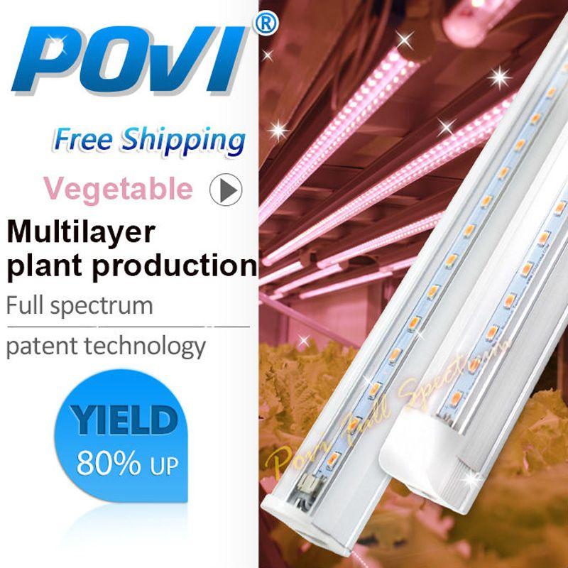 LED T5 hydroponique LED grandir lumière intérieure plantation éclairage supplémentaire pour les plantes plein spectre légumes cultiver tube lumineux 1 pièces