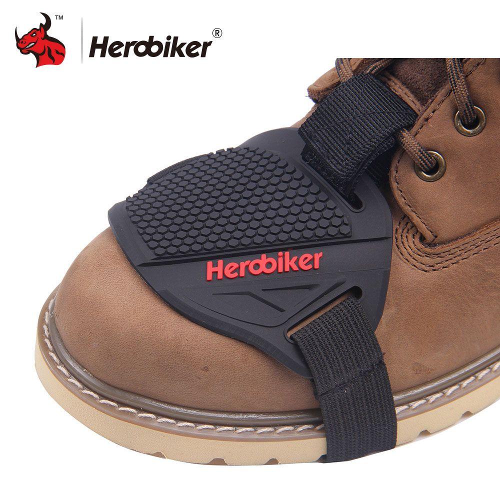 Herobiker сильнее резиновая мотоциклетные переключения передач обуви сапоги протектор Сдвиг Носок Мотоцикл загрузки крышка защитное снаряжен...