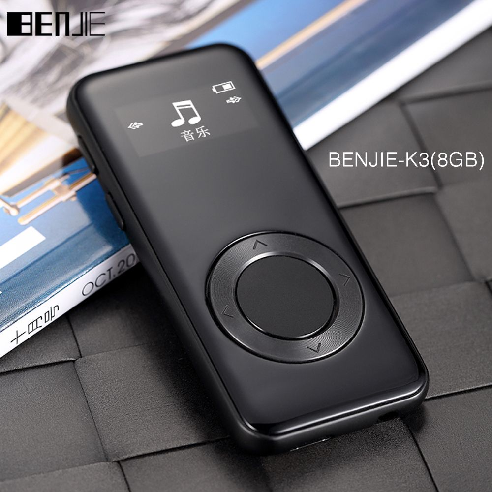 Original BENJIE K3 Alloy mp3 music player Lossless HiFi MP3 player 8GB mini Portable Audio Player FM Radio <font><b>Ebook</b></font> Voice Recorder