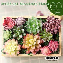 Artificial Succulents decoración tierra Lotus plantas hierba desierto Artificial planta paisaje falsas arreglo de flores jardín