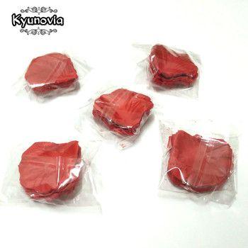 Kyunovia 500 pcs Rose Pétales de mariage accessoires Petalos De Rosa De Mariage Décoration Artificielle Tissu De Mariage Rose Pétales FR02