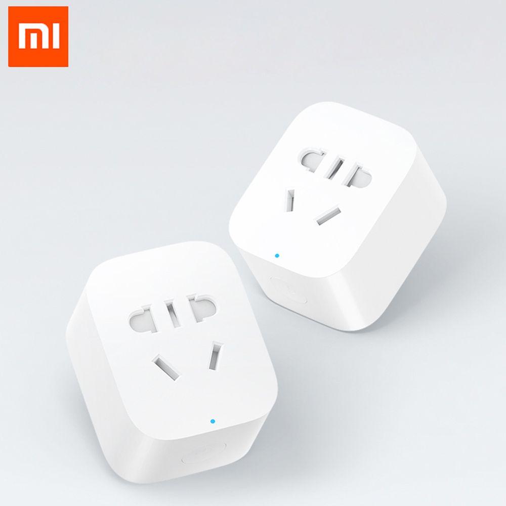 100% Original Xiaomi mijia prise de courant intelligente WiFi sans fil adaptateur de prise à distance alimentation et arrêt avec livraison directe de téléphone