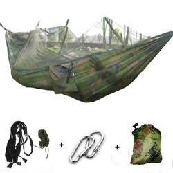 Ultralight Parachute Hammock Mosquito Net for Sleeping Hunting Couple Furniture Outdoor Camping Hammock Drop ship