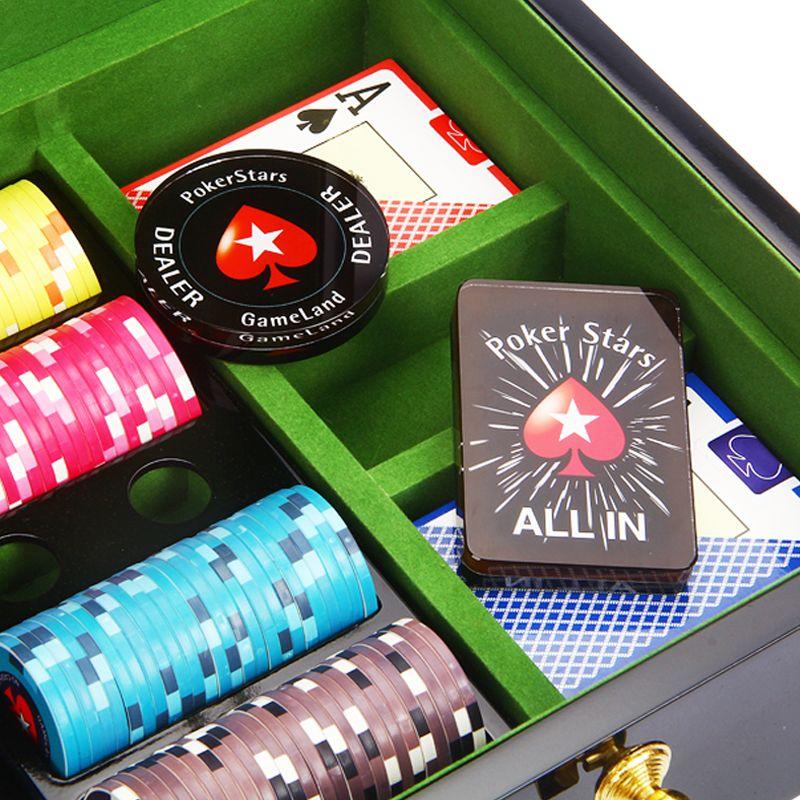 Crystal PokerStars Poker Chips Dealer Button ALL IN button Beautiful Poker Stars Card Guard