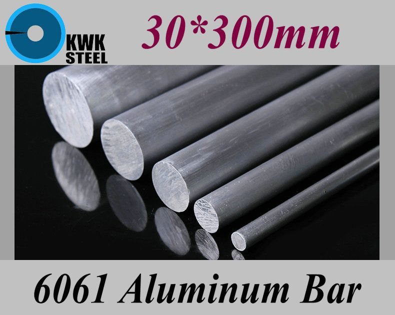 30*300mm Aluminum 6061 Round Bar Aluminium Strong Hardness Rod for Industry or DIY Metal Material Free Shipping