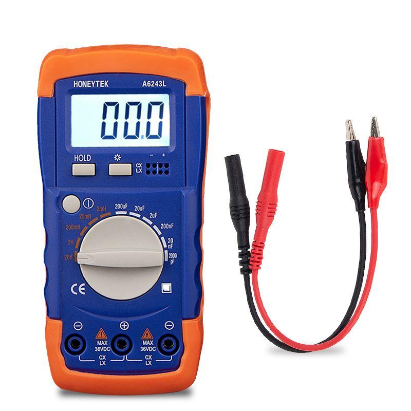 LC Meter Induktivität Kapazität Tester Set Von Sonden Nicht-fühler Für Tester 200pF-20mF Kondensatoren 200μH-200 H Induktivitäten Daten HALTEN