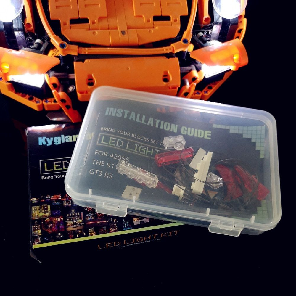 Led Light kit (only light included ) for lego 42056 and Compatible with 20001 TECHNIC 911 (not includ car bricks set