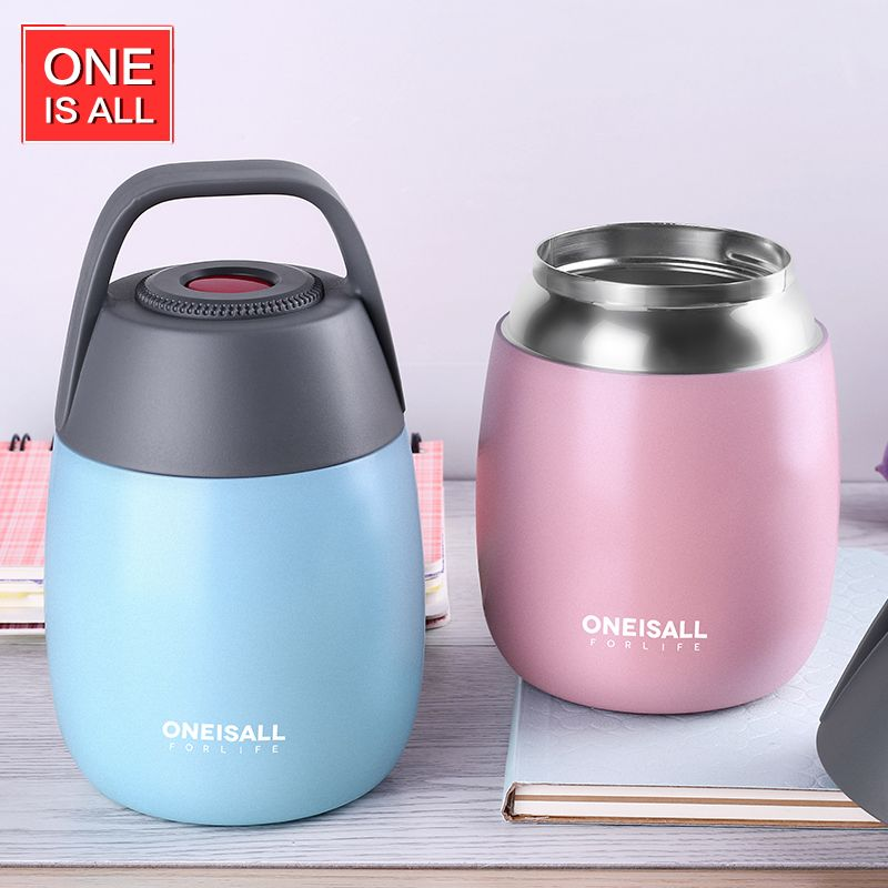 Thermos Food Flask Thermal Bottle Insulated Food Container Thermos Bottle for Food Soup with Bag spoon Vacuum flask Insulated