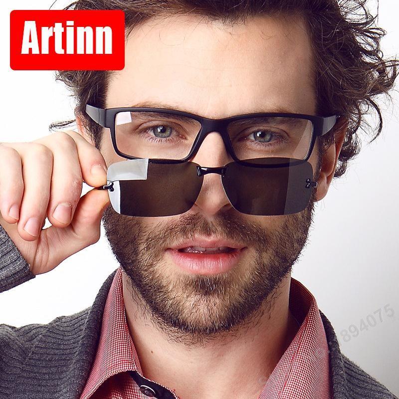 Prescription lunettes cadres hommes lunettes ordinateur lunettes 2 en 1 lunettes de soleil polarisées pc spectacl clip sur ombre Magnétique