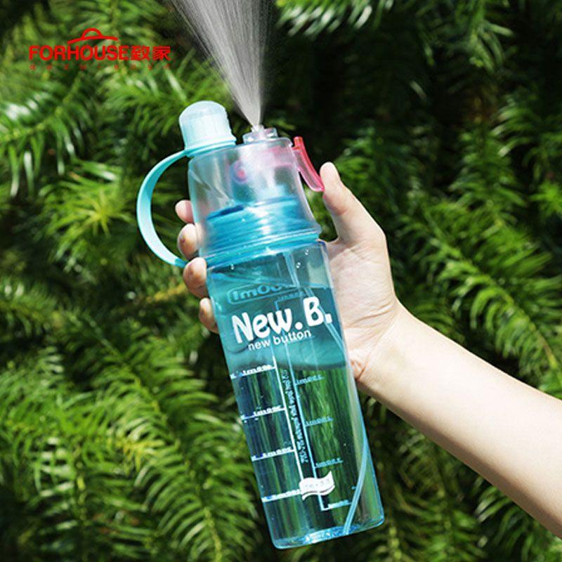 Bouteille d'eau de sport en aérosol bouilloire sans BPA étanche à la fuite randonnée bouteilles portables vélo vélo 400 ML/600 ML bouteilles à boire Shaker