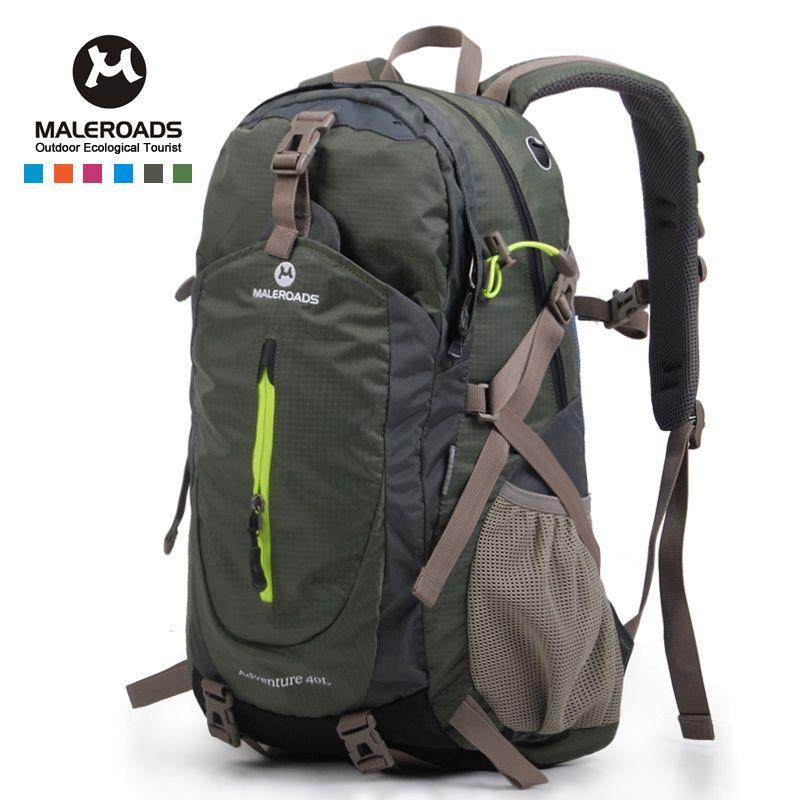 Top quality Maleroads Hiking Backpack Travel Daypack Outdoor Sport Waterproof Backpack Camp Pack Trekk Rucksack Men Women 40L
