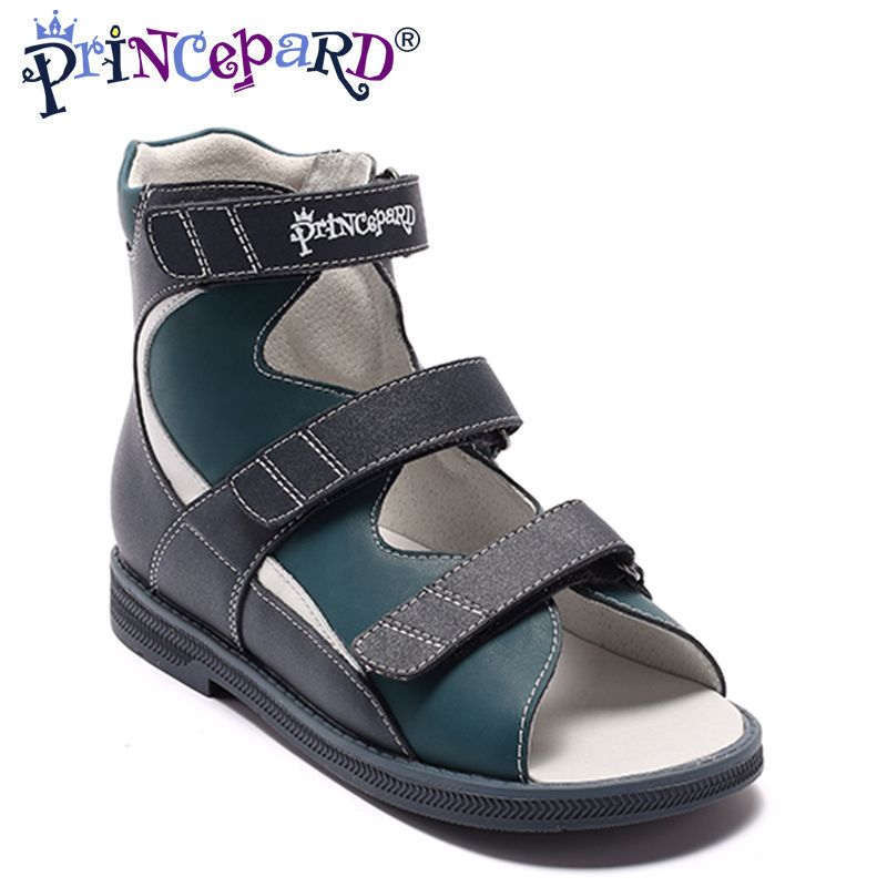Princepard Jungen Schuhe New2018 Sommer Kinder Sandalen aus echtem Leder Flache kinder Schuhe für Kleinkind Jungen Orthopädische Baby Sandalen