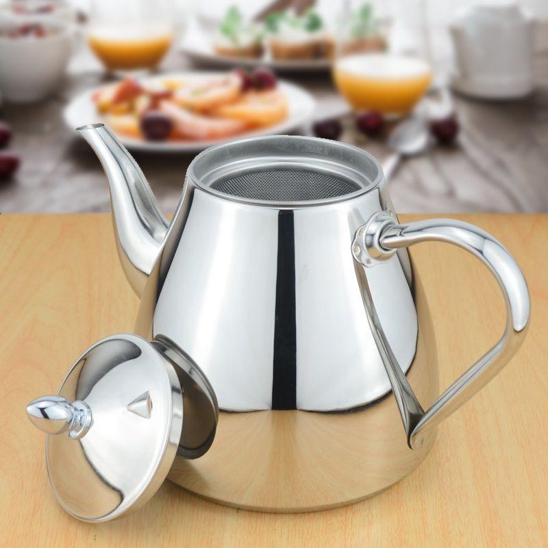 Sanqia en acier inoxydable thé pot avec passoire à thé théière avec boule à thé teaware ensembles thé bouilloire infuser théière pour induction
