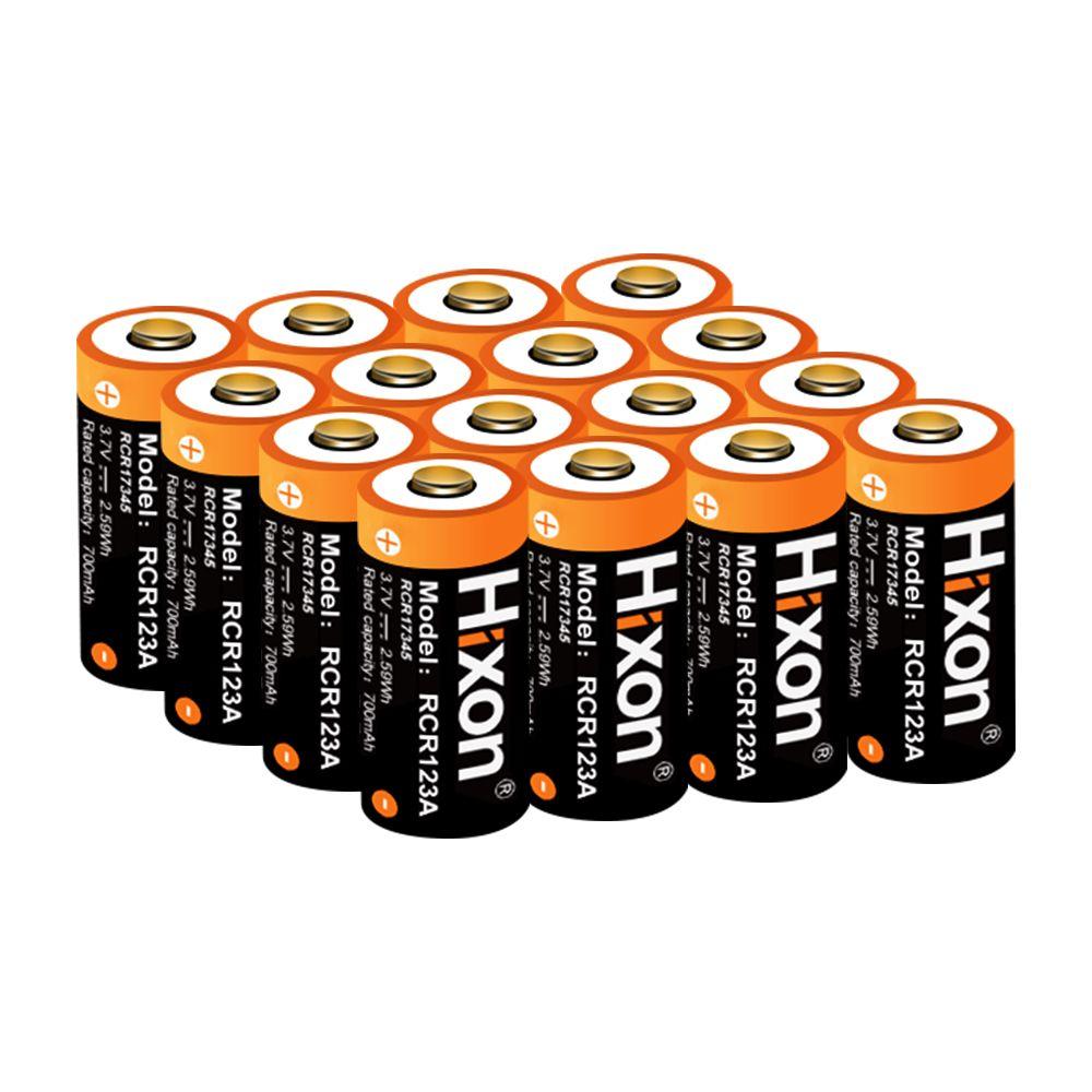 16 pcs UL FCC Certifié 700 mah 3.7 v RCR123A CR123A rechargeable batteries pour Netgear Arlo HD Caméras et Reolink 16340 batterie