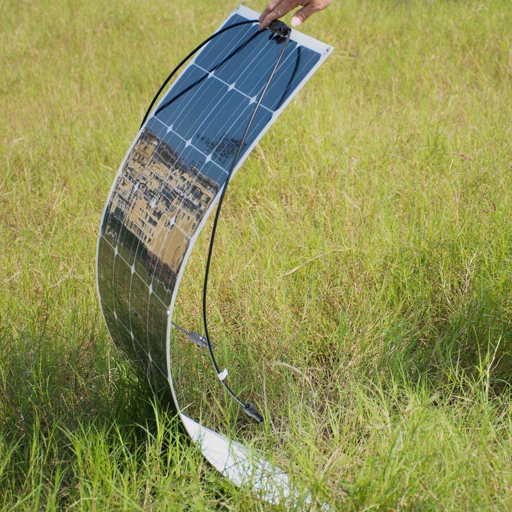 36pcs Mono Cells 100W flexible Solar Panel module for fishing boat car RV 12V solar panel system kits battery solar charger