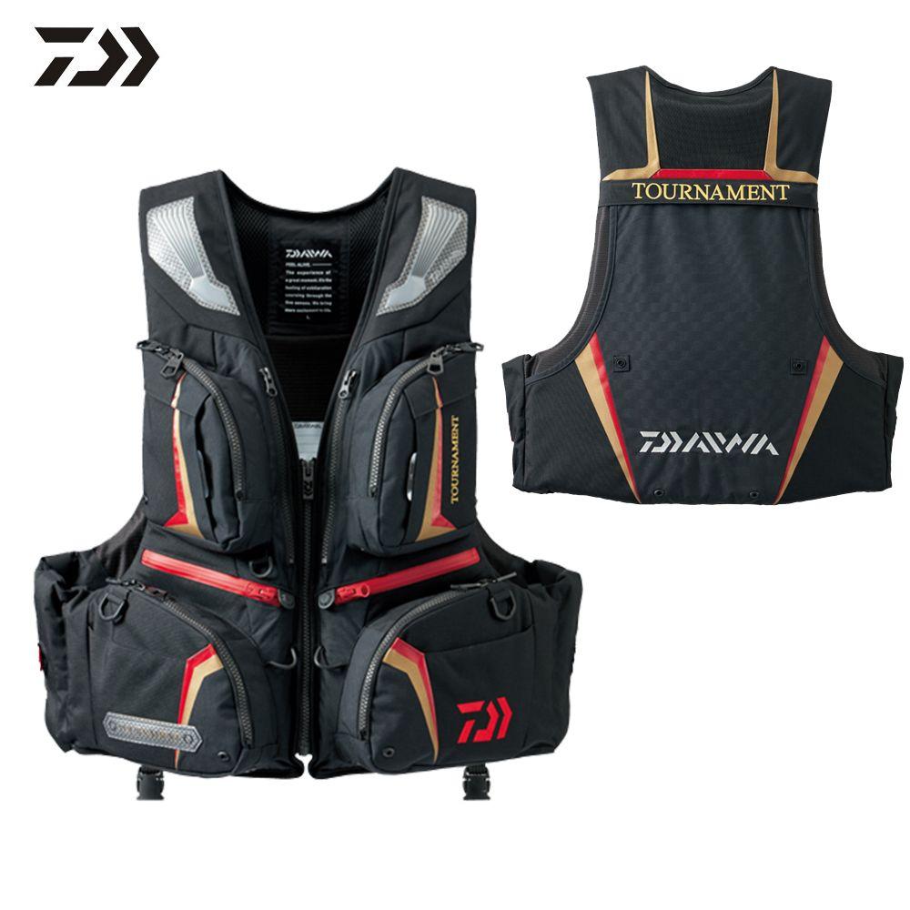 Daiwa DF-3206 Fishing Vest Buoyancy Life Jacket Detachable Multi Function Adjustable Vest Survival Utility Waistcoat