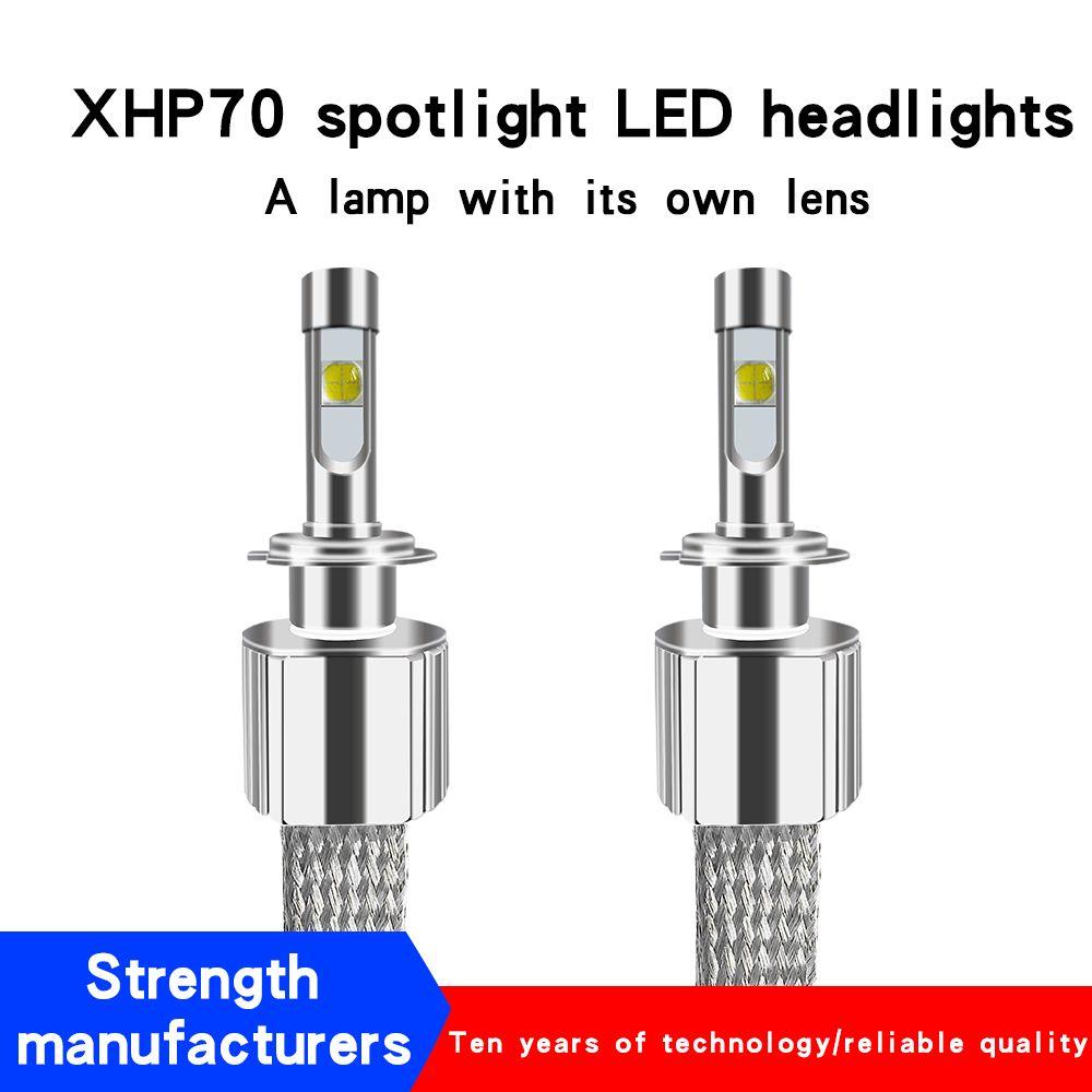 LED Car Headlight H7 H4 LED Bulbs H8 H9 H11 9005 9006 Auto LED Bulb P70 XHP-70 Chips LED 110W 13200LM 5000K 6000K Headlights kit