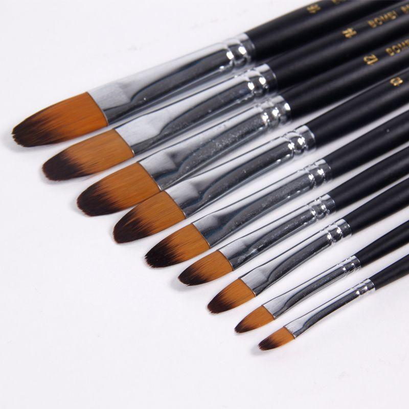 BGLN 9 pcs/ensemble Nylon Cheveux Aquarelle Peinture Brosse Huile/Acrylique Artiste Peinture Pinceaux Pour Peinture Dessin Artiste Fournitures
